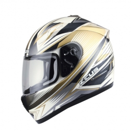 Zeus ZS-2000A Helemet-White-Gold