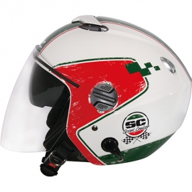Zeus ZS-202FB Helmet- T36 white-Green