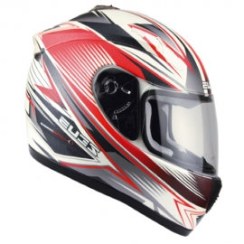 Zeus ZS-2000A Helemet-White-Red