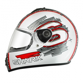 Shark S600 SWAG White Red Anthracit