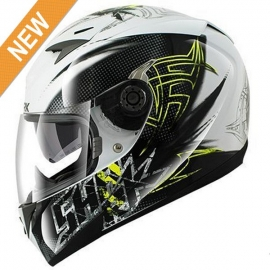 Shark S700S Finks Helmets -Black/White/Yellow
