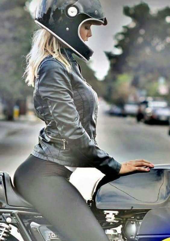 Hot woman on motorcycles