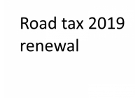 Road tax renew 2019